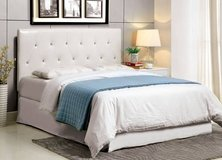 New Full / Queen White Tufted Headboard FREE DELIVERY in Miramar, California