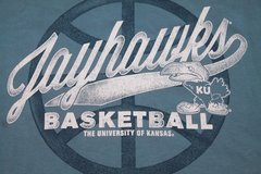 Kansas Jayhawks NWT Adidas Vintage Basketball T-Shirt,  Blue, X-Large - SRP $30.99 in Chicago, Illinois