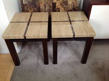 2 Faux Granite End Table-Beige, Brown and Cherrywood in Joliet, Illinois