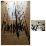 20 Fishing Rods/Poles, 11 reels, 17 Lures(Vintage pcs Included) in Naperville, Illinois
