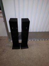 2 CD HOLDER RACK DVD PLASTIC STAND DISPLAY STORAGE SHELVE in Sacramento, California