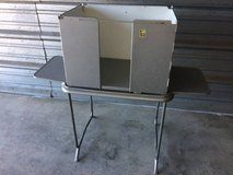 Vintage aluminum voting booth desk in Vacaville, California