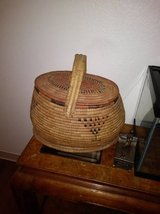 Peruvian Lidded Basket in Roseville, California