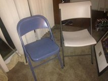 1 blue folding chair in Sacramento, California