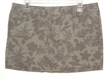 So Pale Olive Green Brown Floral Drawstring Waist Hawaiian Skirt Women 13 Junior in Joliet, Illinois