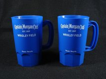 2 Captain Morgan Club Wrigley Field Chicago Cubs Plastic Cups Mugs in Oswego, Illinois