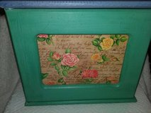Green and blue jewelry armoire from Homegoods/Jewelry box in Glendale Heights, Illinois
