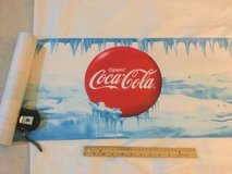 big roll of coca cola japan store decor paper banner (length roll? coke japanese in Okinawa, Japan