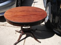 ANTIQUE HARP STYLE TABLE OVAL MAHOGANY in Bartlett, Illinois