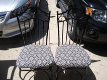 2 METAL HIGH BACKED CHAIRS NEW UPHOLSTERY in St. Charles, Illinois
