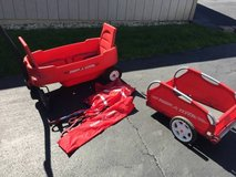 Radio Flyer wagon, canopy, and trailer in Bartlett, Illinois