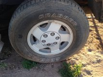 "16"" Chevy 6 Lug Stock Rims with tires in Alamogordo, New Mexico"