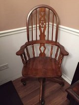 ~ANTIQUE SOLID OAK OFFICE CHAIR~ in Morris, Illinois