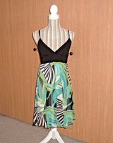First Kiss Sheer Abstract Lined Mini Sun Dress w Padded Bra Womens Small in Plainfield, Illinois