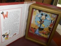 "Mickey Mouse Story Book Clock! It Works! "" WALT DISNEY'S A MOUSE'S TALE"" in Bellaire, Texas"