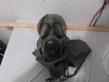 m17a1 vietnam era gas mask w resuscitation tube canvas bag 40713 in Huntington Beach, California