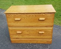 2-Drawer Solid Oak Filing Cabinet in Aurora, Illinois
