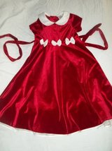 Beautiful Girls Red Velour 7-8 Dress w/ Cream Satin Bows! in Silverdale, Washington