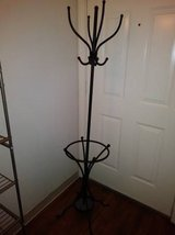 Black Coat Rack Stand Tree Holder Hat Hanger Hall Metal Umbrella Stand wrought Iron in Roseville, California