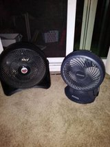 2 fans one honeywell table top, one Tabletop Blizzard Holmes in Travis AFB, California