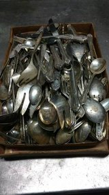 Flat full of silver-plated silverware in Fort Leavenworth, Kansas