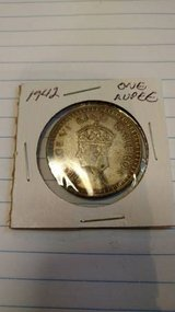 1942 Silver one rupee in Fort Leavenworth, Kansas