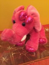 "aurora world girlz nation pink elephant plush 9"" toy play soft soft plush in Morris, Illinois"