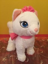 """disney white plush cat 12"""" stuffed animal aristocats  soft toy marie pre-own in Naperville, Illinois"""
