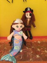 bundle  mermaid and pirate girl soft plush stuffed dolls in Naperville, Illinois