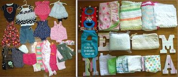 Girls Infant/Child 3mo Clothes - Blankets Bibs in Bolingbrook, Illinois