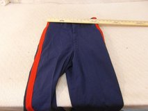 usmc marine corps mens poly/wool garbardine dress blue 30r blood stripe trousers 00020 in Huntington Beach, California
