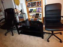 Black Wood and Glass TV Stand Entertainment Center Console Storage S in Sacramento, California