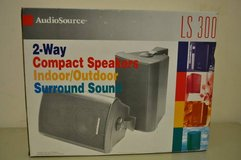 7 AudioSource LS 300 2-WAY COMPACT SPEAKERS INDOOR/OUTDOOR SURROUND SOUND in Fairfield, California