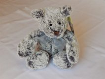 cuddly silver gray teddy bear nwt in Naperville, Illinois