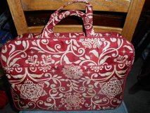 New Vinyl Red and White Travel Bag Set!  Includes Garment Holder+ Hanger!  2pc set    AWES... in Bellaire, Texas