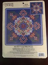 Candamar Designs Needlepoint - Blue Kaleidoscope Pillow / Picture in Fort Bliss, Texas