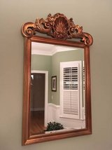 Large Ornate Copper Colored Mirror in Wilmington, North Carolina