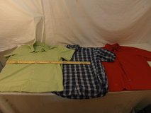 3 mens banana republic xlarge lime green red blue white checkered casual shirts 00031 in Huntington Beach, California