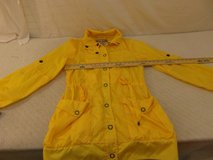 womens american ragcie bright yellow button/zip up small long sleeve rain jacket  34227 in Huntington Beach, California