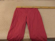 womens banana republic stretch 10 cotton blend dark pink flat front work pants  00044 in Huntington Beach, California