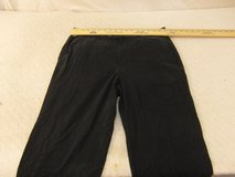 mens tommy bahama 90 silk 10 cotton black flat front casual 36 x 32 pants  00045 in Huntington Beach, California