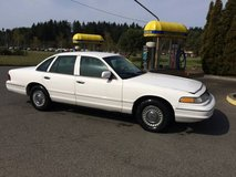WHITE POLICE CAR- Ford Crown Victoria, Road Warrior in Fort Lewis, Washington