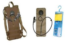 usmc issue skilcraft molle ii tan hydration pack 100 oz new bladder cleaning kit  00067 in Huntington Beach, California