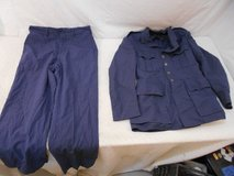 korean war vintage usaf serge wool 1950  dress blue uniform jacket pants 00003 in Huntington Beach, California