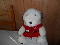 1993 Coca-Cola Coke Polar Bear Plush with Vest + Gold Coca-Cola Pocket Watch. in Bellaire, Texas