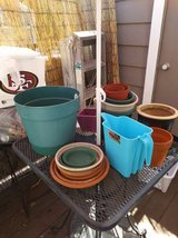 assorted gardening pots off different shapes and sizes in Travis AFB, California