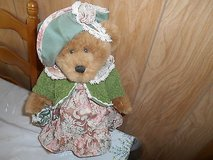 "DAN DEE Plush Bear Dressed w/ Hat, Purse, and Metal Stand! 17"" tall Cute! in Bellaire, Texas"