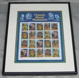ART - Matted & Framed Classic Movie Monsters Stamp Sheet - 1996 in Aurora, Illinois