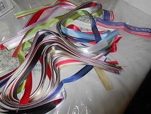 "Assorted Solid Color Ribbons ( 7/8"" wide)!   60+Yards   Plus Patriotic Ribbons in Houston, Texas"