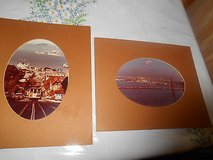 2 Vintage Colored  Photos of San Francisco     City Trolley and San Francisco Bay (in background... in Bellaire, Texas